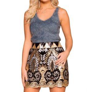 Sequin Pattern Mini Skirt